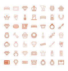 49 luxury icons vector image