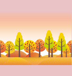 A countryside in autumn vector