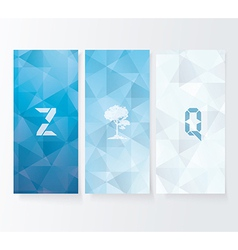Abstract cover blue background banners set vector