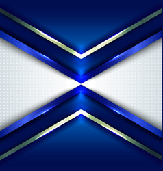 abstract technology concept blue metallic angle vector image