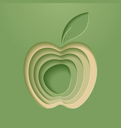 apple poster modern styled vector image