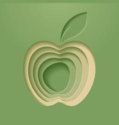 Apple poster modern styled vector