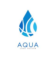 aqua logo design corporate identity template with vector image