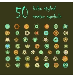 Big set of abstract design flowers vector