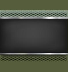 blackboard on metal background vector image