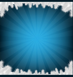 blue firtree and sunburst vector image