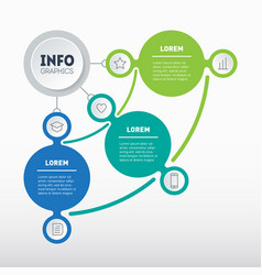 Business presentation with 3 parts infographic of vector