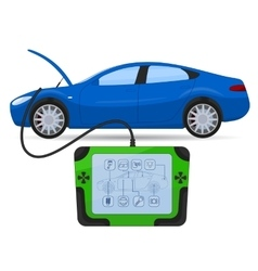 Car diagnostics test service vector image
