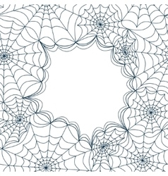 Card template with spiders web seamless vector