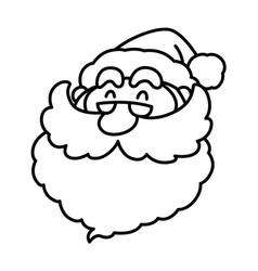 Cartoon smiling santa claus face vector