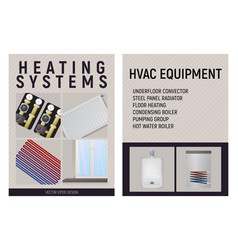 Central heating system design vector