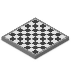chessboard isometric vector image
