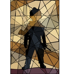 Child soldier mosaic vector