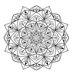 circular pattern mandala for coloring on a white vector image