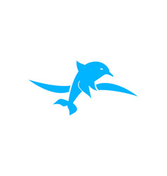 dolphin smart animal logo design inspiration for vector image