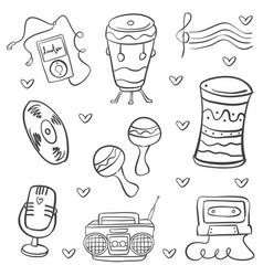 Doodle of musical instrument art vector