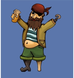 Drunk pirate vector image
