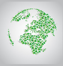 earth made of a lots of sticker trees vector image