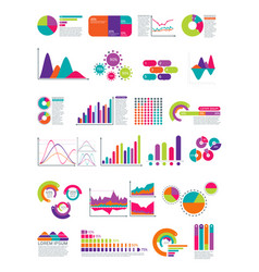 Elements of infographic with flowchart vector