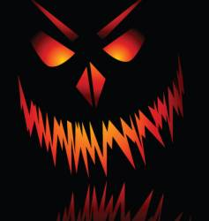 evil face vector image