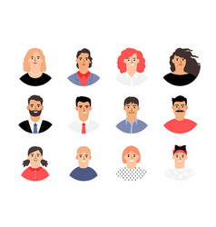 female male and kids avatars vector image