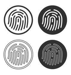 fingerprint icon sign shape button set vector image