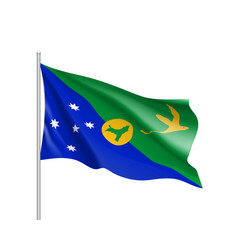 flag of christmas island vector image