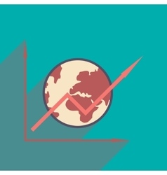 Flat design modern icon globe vector