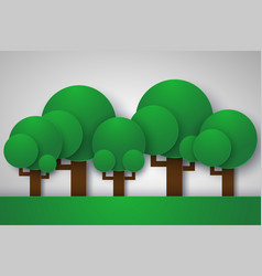 Forest with tree ecology concept paper art style vector