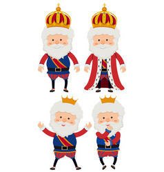 Four kings on white background vector