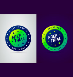 Free trial try it now emblem vector