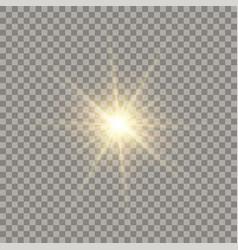 golden glowing sun vector image
