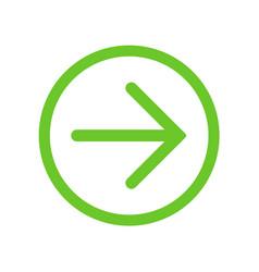 green right next arrow in green circle vector image