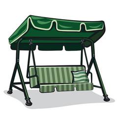 green teterboard swing vector image