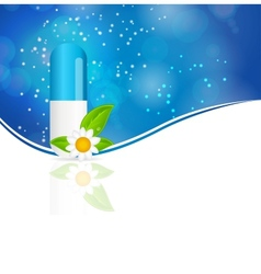 Herbal pill Environment background vector