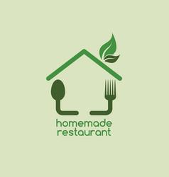 homemade restaurant vector image