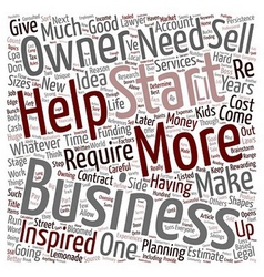 How to Start a Business text background wordcloud vector