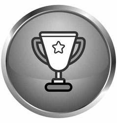 icon trophy vector image