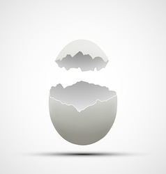 Icons broken chicken egg vector