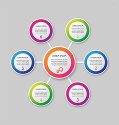 infographic template on background vector image