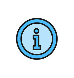 information service help sign flat color icon vector image