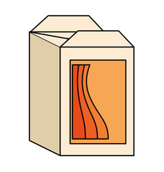 Juice carton box icon vector