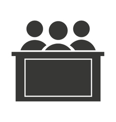 jury group isolated icon vector image