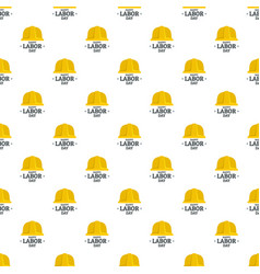 labor day yellow helmet pattern seamless vector image