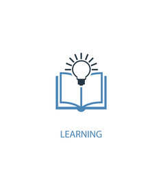 learning concept 2 colored icon simple blue vector image