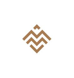 letter m logo design template vector image