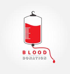 Logotype blood donation vector