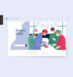 Medical insurance template - surgery vector