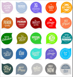 modern badges collection 1 vector image