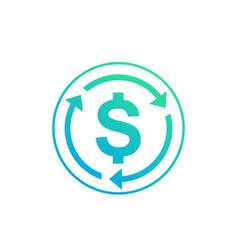 Money transfer convert icon vector